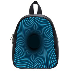 Background Spiral Abstract Pattern School Bag (small) by Nexatart