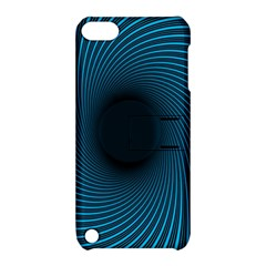 Background Spiral Abstract Pattern Apple Ipod Touch 5 Hardshell Case With Stand