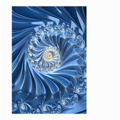Blue Fractal Abstract Spiral Small Garden Flag (two Sides)
