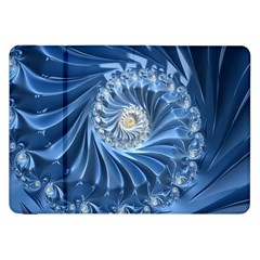 Blue Fractal Abstract Spiral Samsung Galaxy Tab 8 9  P7300 Flip Case by Nexatart