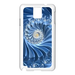 Blue Fractal Abstract Spiral Samsung Galaxy Note 3 N9005 Case (white)