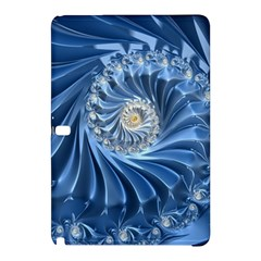 Blue Fractal Abstract Spiral Samsung Galaxy Tab Pro 12 2 Hardshell Case by Nexatart