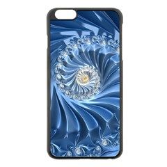 Blue Fractal Abstract Spiral Apple Iphone 6 Plus/6s Plus Black Enamel Case