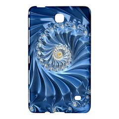 Blue Fractal Abstract Spiral Samsung Galaxy Tab 4 (7 ) Hardshell Case  by Nexatart