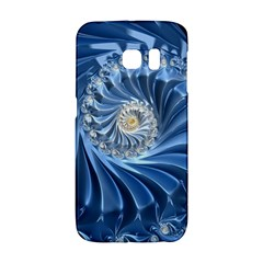 Blue Fractal Abstract Spiral Samsung Galaxy S6 Edge Hardshell Case