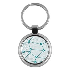 Network Social Abstract Key Chains (round)