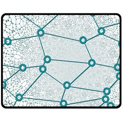 Network Social Abstract Double Sided Fleece Blanket (medium)