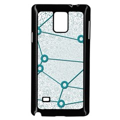 Network Social Abstract Samsung Galaxy Note 4 Case (black)