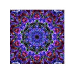 Purple Kaleidoscope102 Small Satin Scarf (square)