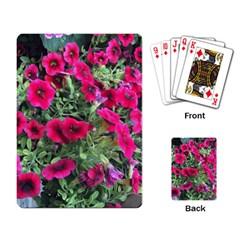 Pink Petunias Playing Card