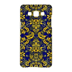 Blue And Yellow Vines And Lace Samsung Galaxy A5 Hardshell Case