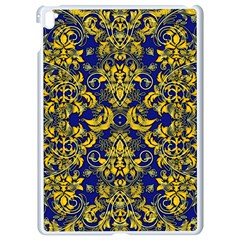 Blue And Yellow Vines And Lace Apple Ipad Pro 9 7   White Seamless Case