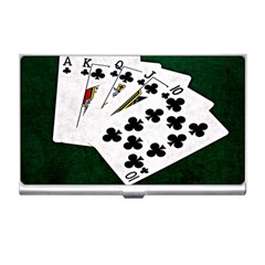 Poker Hands   Royal Flush Clubs Business Card Holders