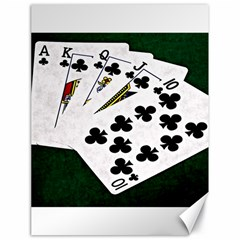 Poker Hands   Royal Flush Clubs Canvas 18  X 24