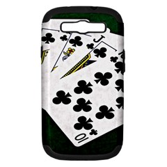 Poker Hands   Royal Flush Clubs Samsung Galaxy S Iii Hardshell Case (pc+silicone) by FunnyCow