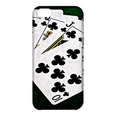 Poker Hands   Royal Flush Clubs Apple Iphone 5c Hardshell Case by FunnyCow