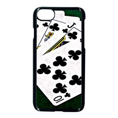 Poker Hands   Royal Flush Clubs Apple Iphone 7 Seamless Case (black)