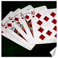 Poker Hands   Royal Flush Diamonds Canvas 20  X 20