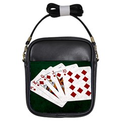 Poker Hands   Royal Flush Diamonds Girls Sling Bags
