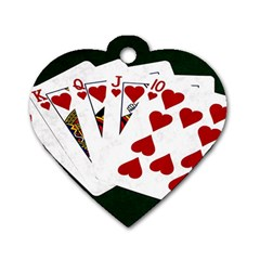 Poker Hands   Royal Flush Hearts Dog Tag Heart (one Side)