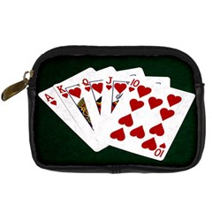 Poker Hands   Royal Flush Hearts Digital Camera Cases