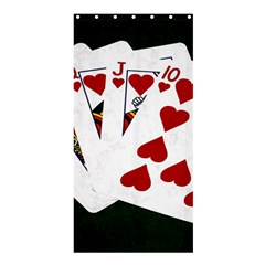 Poker Hands   Royal Flush Hearts Shower Curtain 36  X 72  (stall)