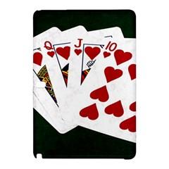 Poker Hands   Royal Flush Hearts Samsung Galaxy Tab Pro 12 2 Hardshell Case