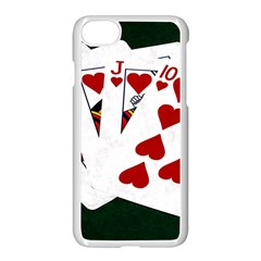Poker Hands   Royal Flush Hearts Apple Iphone 7 Seamless Case (white)