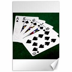 Poker Hands   Royal Flush Spades Canvas 24  X 36