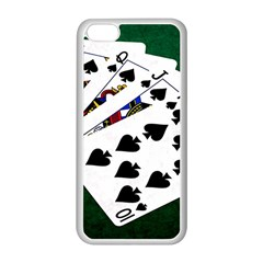 Poker Hands   Royal Flush Spades Apple Iphone 5c Seamless Case (white) by FunnyCow