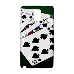 Poker Hands   Royal Flush Spades Samsung Galaxy Note 4 Hardshell Case