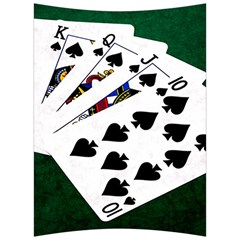 Poker Hands   Royal Flush Spades Back Support Cushion