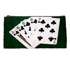 Poker Hands   Straight Flush Clubs Pencil Cases
