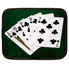 Poker Hands   Straight Flush Clubs Netbook Case (xl)