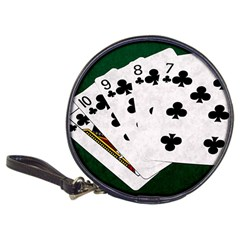 Poker Hands   Straight Flush Clubs Classic 20 Cd Wallets