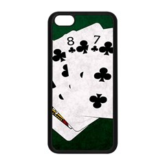 Poker Hands   Straight Flush Clubs Apple Iphone 5c Seamless Case (black) by FunnyCow