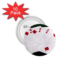 Poker Hands   Straight Flush Diamonds 1 75  Buttons (10 Pack)