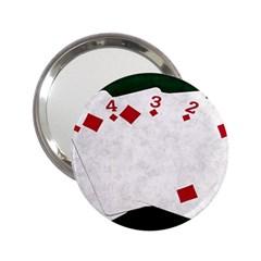 Poker Hands   Straight Flush Diamonds 2 25  Handbag Mirrors