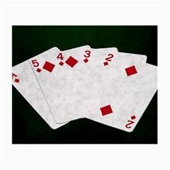 Poker Hands   Straight Flush Diamonds Small Glasses Cloth