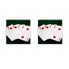 Poker Hands   Straight Flush Diamonds Cufflinks (square)