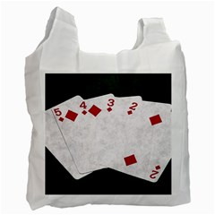 Poker Hands   Straight Flush Diamonds Recycle Bag (one Side)