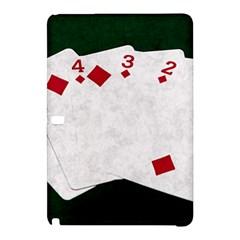 Poker Hands   Straight Flush Diamonds Samsung Galaxy Tab Pro 12 2 Hardshell Case by FunnyCow