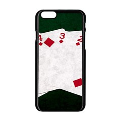 Poker Hands   Straight Flush Diamonds Apple Iphone 6/6s Black Enamel Case by FunnyCow