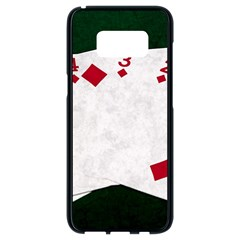 Poker Hands   Straight Flush Diamonds Samsung Galaxy S8 Black Seamless Case by FunnyCow