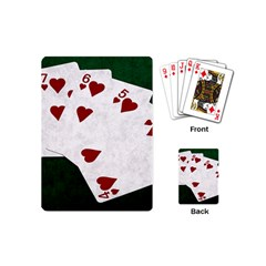 Poker Hands Straight Flush Hearts Playing Cards (mini)
