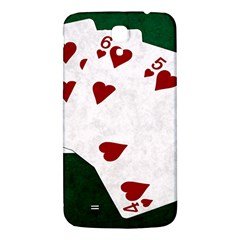 Poker Hands Straight Flush Hearts Samsung Galaxy Mega I9200 Hardshell Back Case by FunnyCow