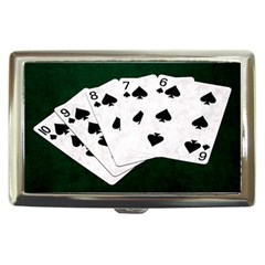 Poker Hands Straight Flush Spades Cigarette Money Cases