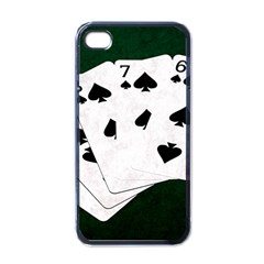 Poker Hands Straight Flush Spades Apple Iphone 4 Case (black)