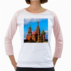Moscow Kremlin And St  Basil Cathedral Girly Raglans