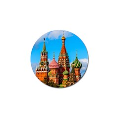 Moscow Kremlin And St  Basil Cathedral Golf Ball Marker